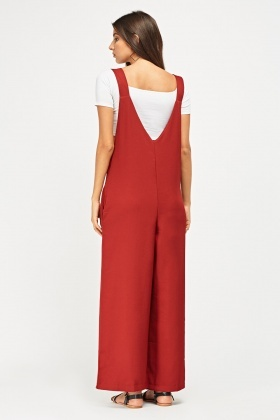 Wide Leg Pinafore Jumpsuit