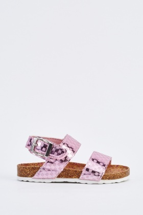 Kids Metallic Sandals