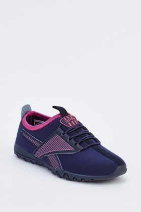 Lace Up Contrast Kids Trainers