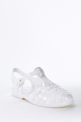White Jelly Sandals