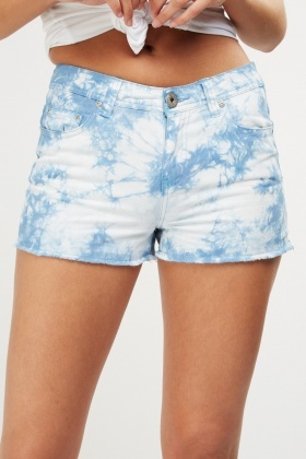 Dip Dye Denim Shorts