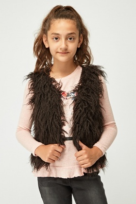 Girls Fluffy Gilet