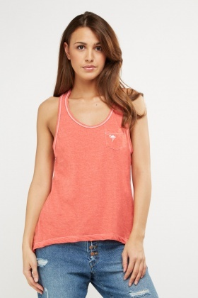 Single Pocket Front Vest Top