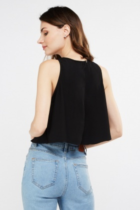 Sleeveless Slit Back Top