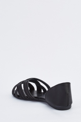 Criss Cross Cut Out Side Flats