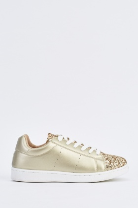 Glitter Encrusted Low Top Sneakers