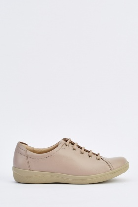 Lace Up Flat Plimsolls