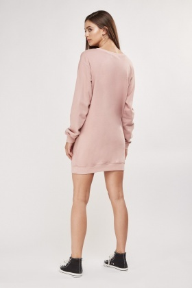 Cut Out Chain Detail Jumper Dress