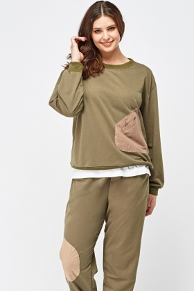 Patched Pocket Front Sweatshirt