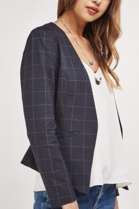 Windowpane Check Smart Blazer