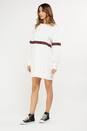 Contrast Panel Jumper Dress