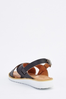 Cross Over Slingback Sandals