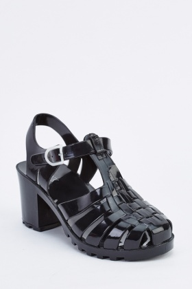 Gladiator Jelly Heel Sandals