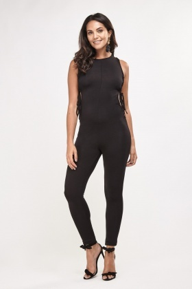 Fitted Lace Up Side Jumpsuit