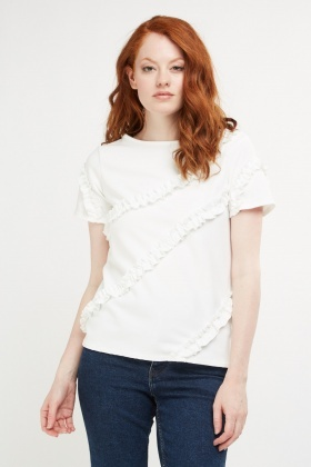 Gathered Ruffle Detail Top