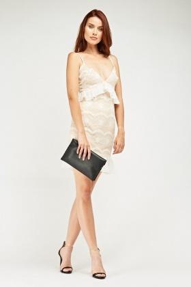 753755c315 Lace Overlay Sweetheart Dress