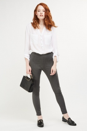 Skinny Fit Formal Trousers