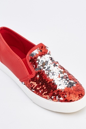 Dual Sided Sequin Plimsolls