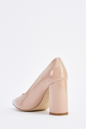PVC Court Heeled Shoes