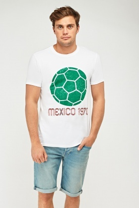 Mexico Football Graphic T-Shirt