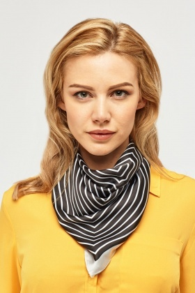 Striped Sateen Scarf
