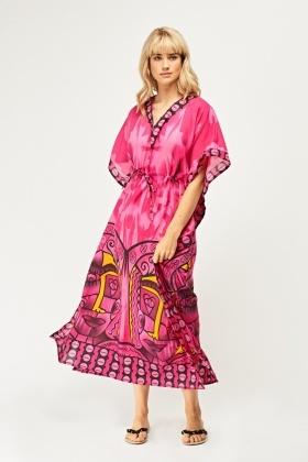 2f85e758c53 Tribal Print Kaftan Maxi Dress - Just £5