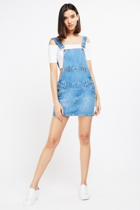 c5de8d8891 Denim Mini Dungaree Dress