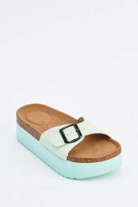 Chunky Buckle Sandals