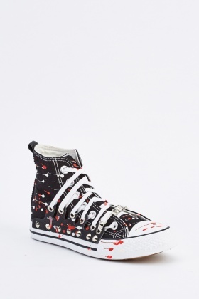 Contrasted High Top Trainers