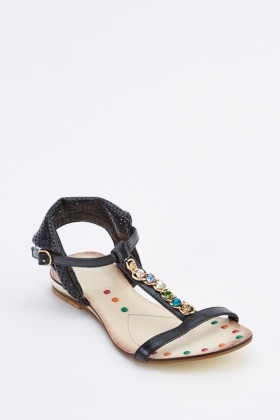 Embellished Open Toe Sandals