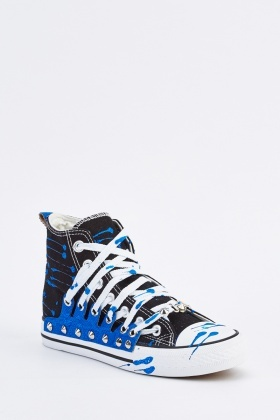 Glitter Contrast High Top Trainers