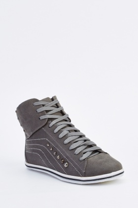 Lace Up High Top Trainers