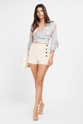 Button Side Smart Shorts