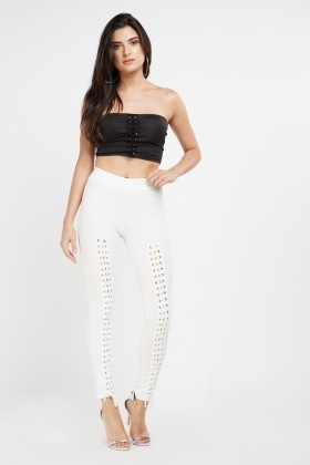 Lace Up Front Leggings