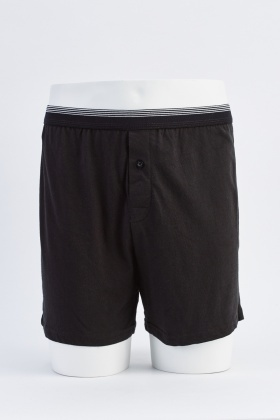 Pack Of 3 Mens Black Boxers