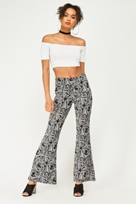 Baroque Printed Flare Trousers
