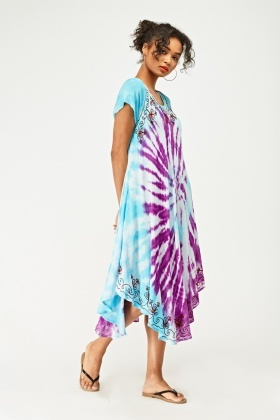 Stitched Shibori Dye Tent Dress