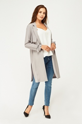 Structured Double Breasted Duster Coat