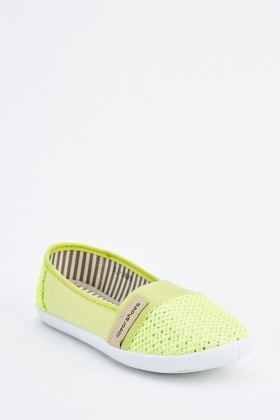 Perforated Contrast Plimsolls