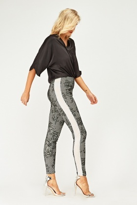 Fish Net Lace Overlay Trousers