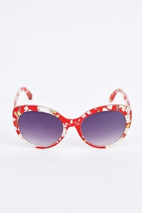 Floral Butterfly Sunglasses