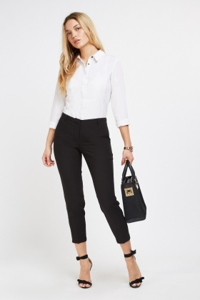 Ankle Grazer Tapered Trousers