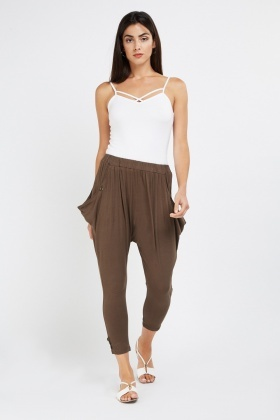 Casual Ankle Length Harem Pants