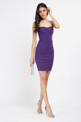 Strapless Sweetheart Bodycon Dress