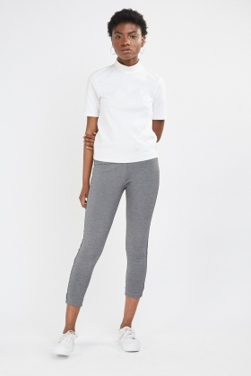 Contrast Side Crop Leggings