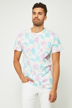 Mixed Print Pineapple T-Shirt