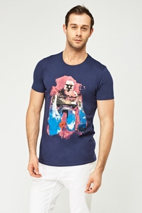 Navy Graphic T-Shirt