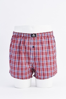Pack Of 3 Plaid Mens Boxers