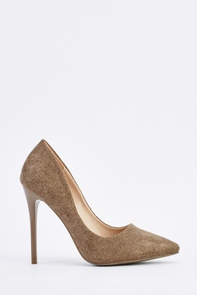 Textured Speckled Court Heels