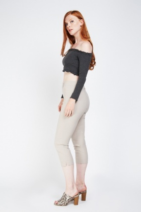 Skinny Fit Crop Treggings